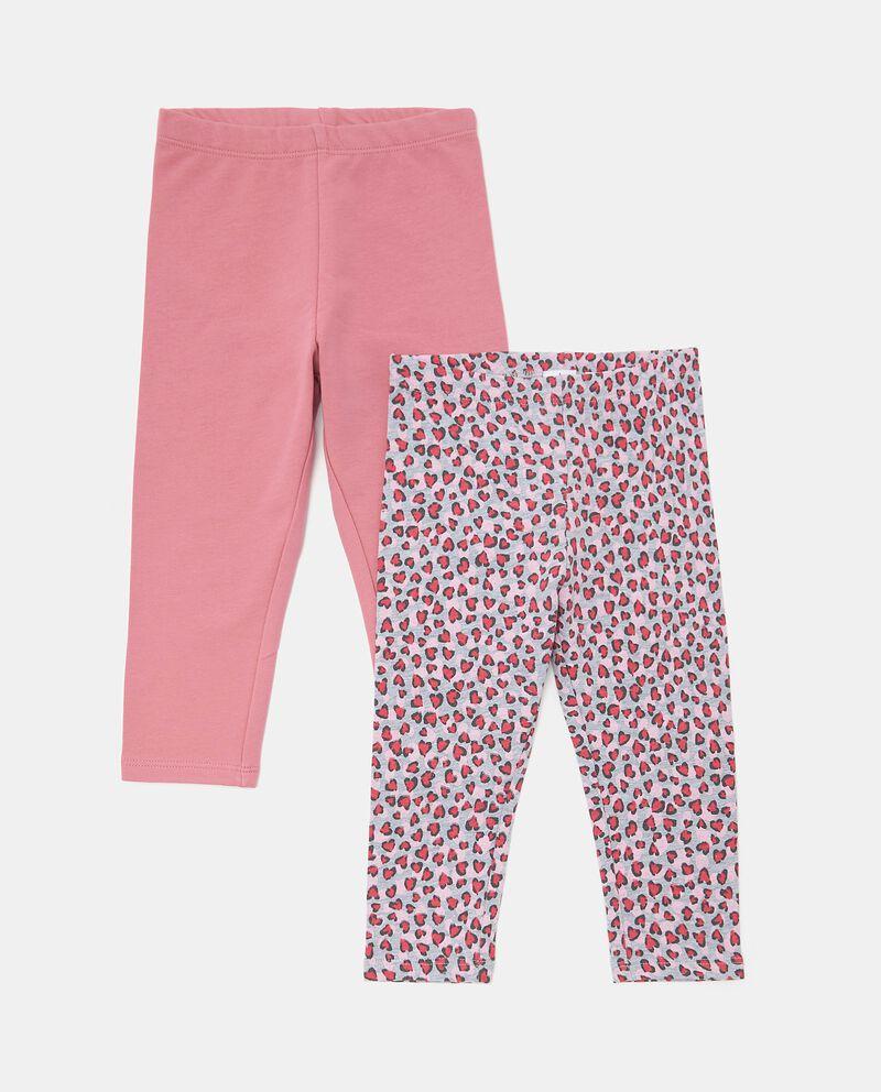 Bipack leggings cotone biologico neonata