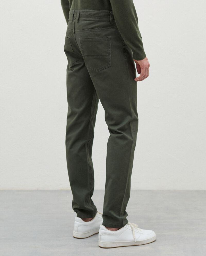 Pantaloni slim cinque tasche di puro cotone uomo single tile 1