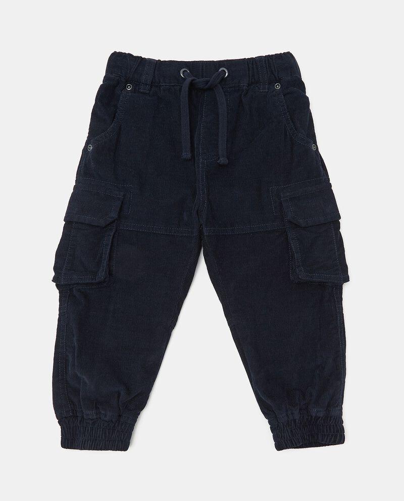 Pantaloni cargo in puro cotone con effetto velluto neonato cover