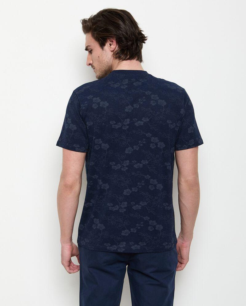 T-shirt stampata in cotone organico uomo