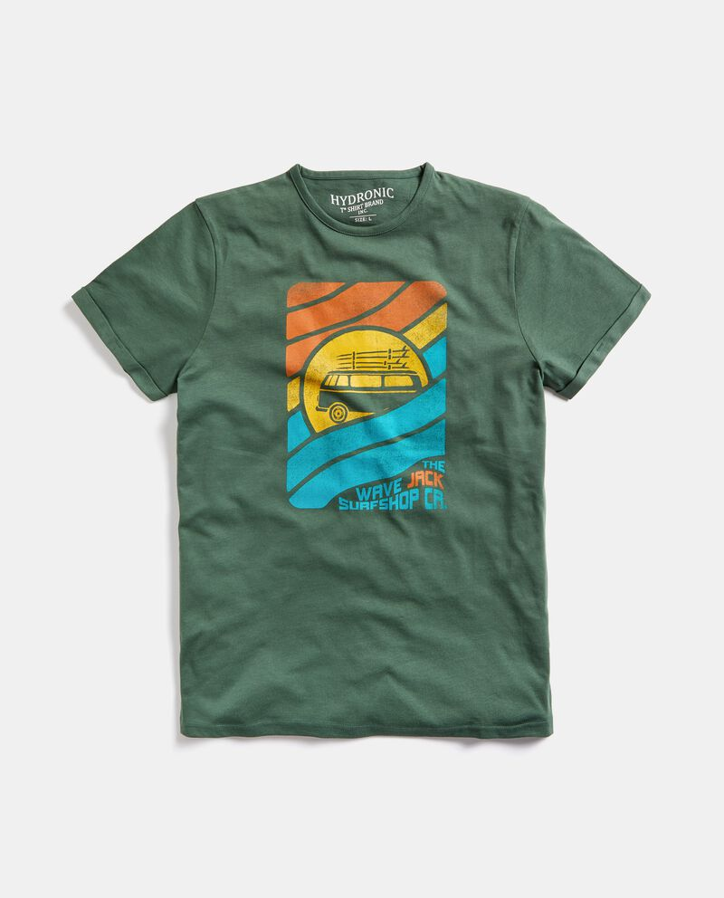 T-shirt stampata puro cotone uomo