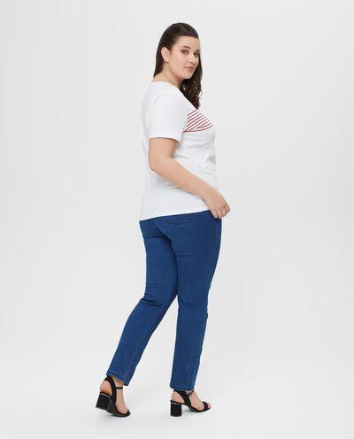 Jeans in cotone blu indigo cinque tasche Curvy
