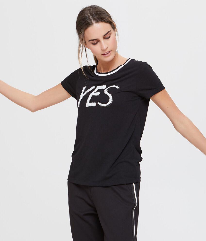 T-shirt a maniche corte nera fitness