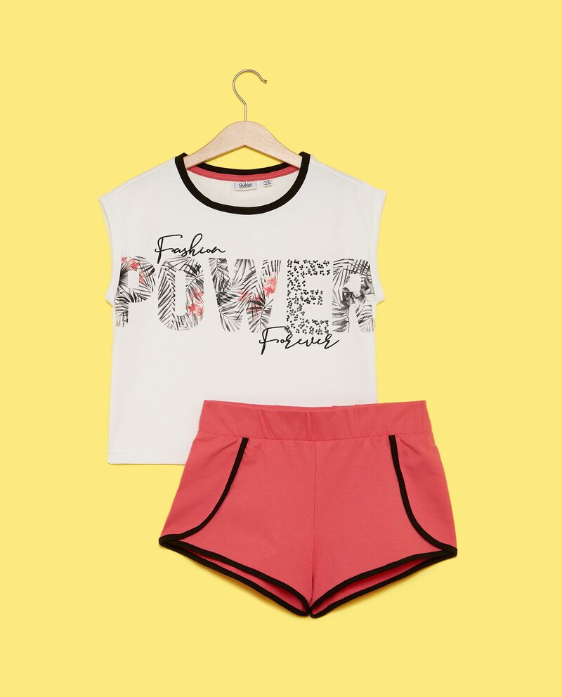 Set jogging con canotta e shorts ragazza