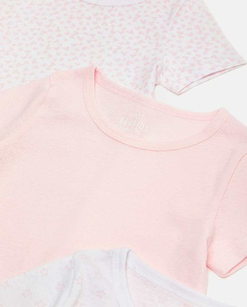 Set di 3 t-shirt intime di puro cotone biologico bambina single tile 1
