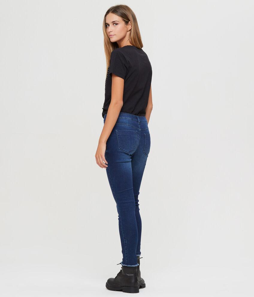 Jeans crop jogger fit orlo sfilacciato