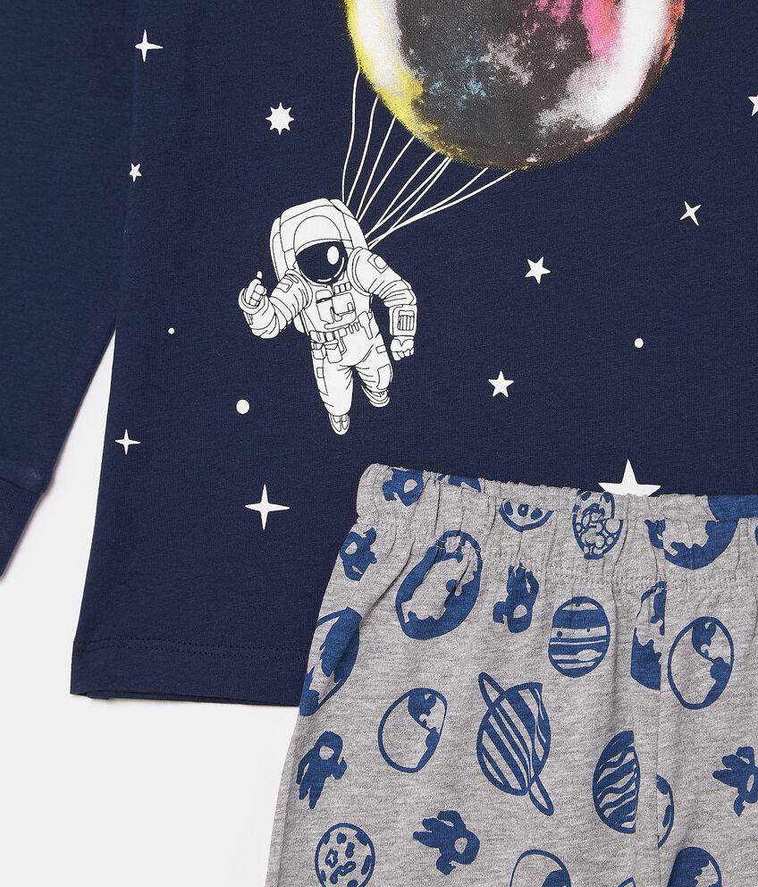 Set pigiama con maglia e pantaloni in fantasia