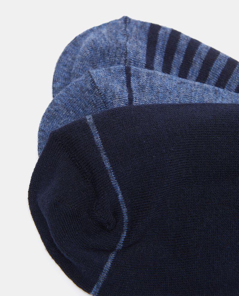 Set con 3 paia di calzini lunghi in cotone elasticizzato uomo single tile 1