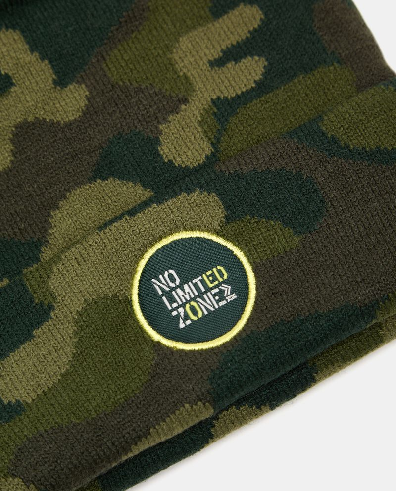 Berretto in maglia con stampa camouflagedouble bordered 1