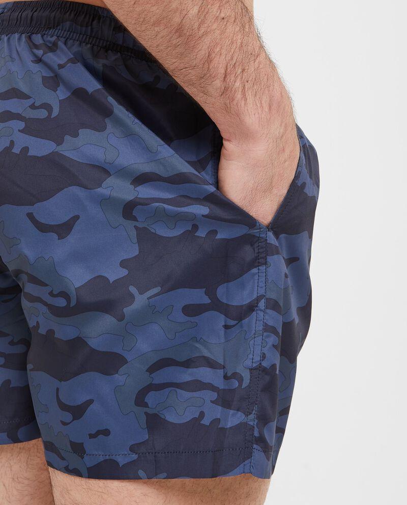 Shorts con fantasia militare uomo