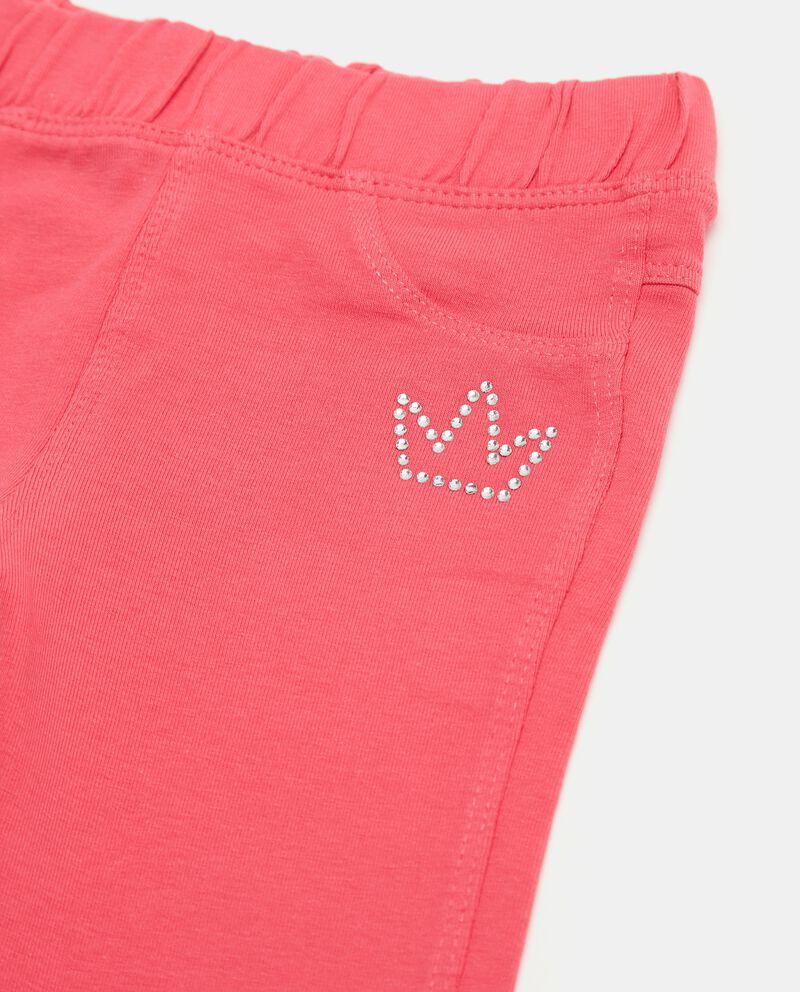 Pantaloni tinta unita di cotone biologico neonata