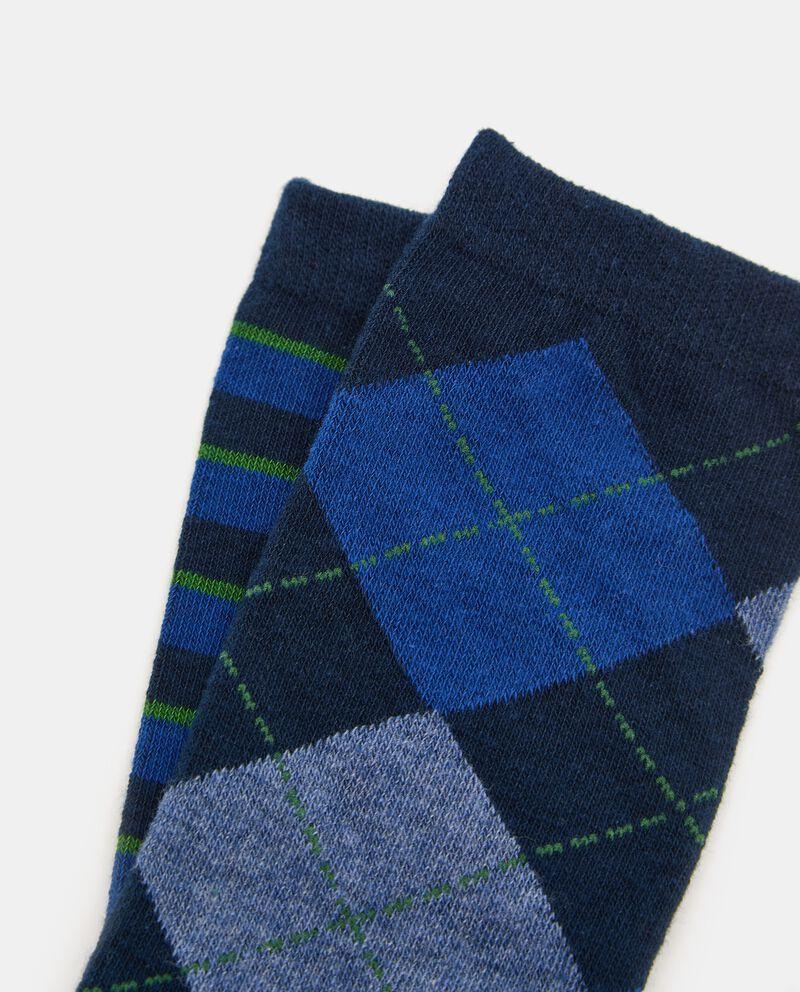 Bipack con 2 paia di calze lunghe bambino single tile 1