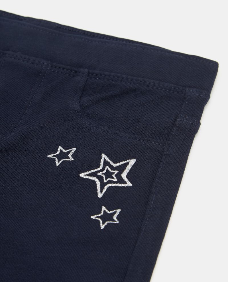 Pantaloni con stampa stelle glitter