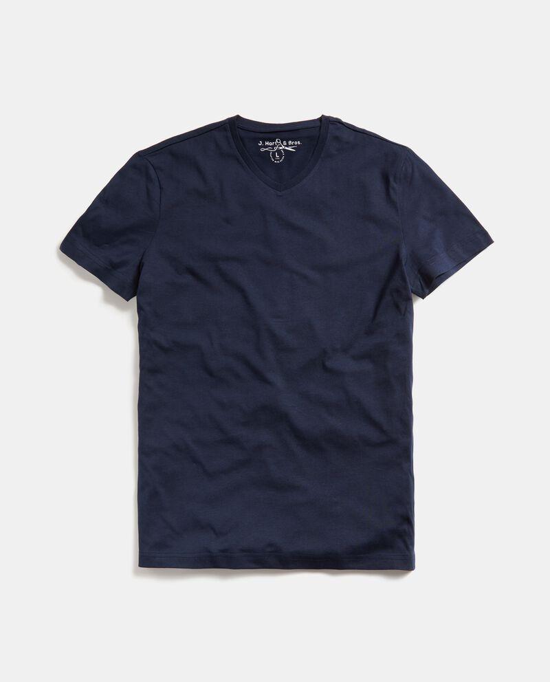 T-shirt in puro cotone tinta unita uomo