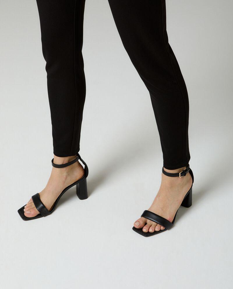 Leggings tinta unita donnadouble bordered 2