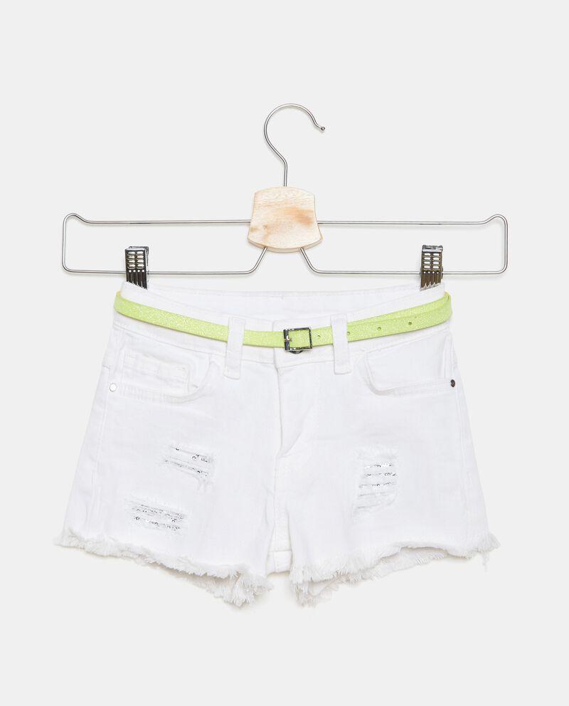 Shorts denim in cotone elasticizzato bambina cover