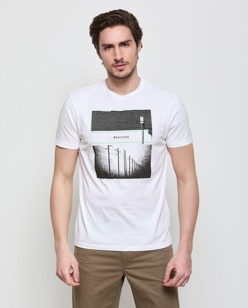 T-shirt in puro cotone con stampa uomo
