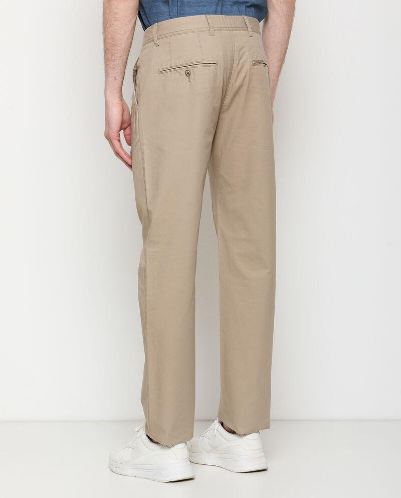 Pantaloni chino in puro cotone uomo