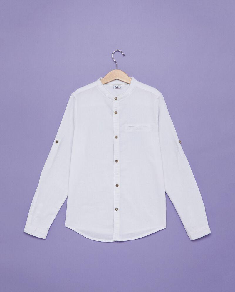 Camicia bianca in puro cotone ragazzo
