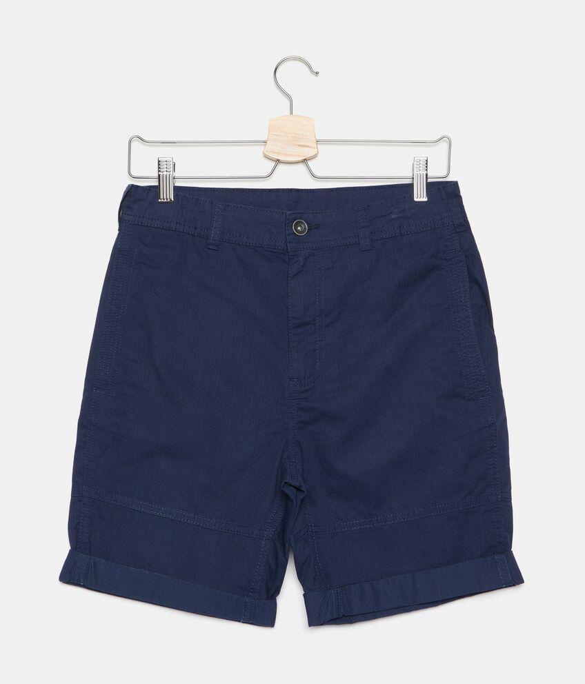 Shorts a righine in puro cotone ragazzo