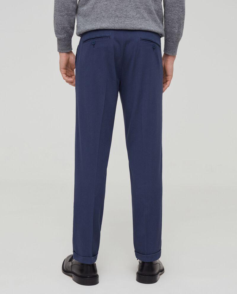 Pantaloni in cotone stretch con tasche