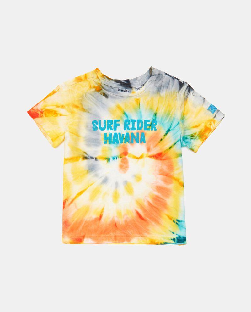 T-shirt tye and dye di cotone organico neonato cover