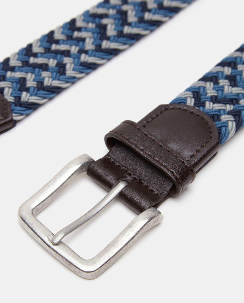 Cintura intrecciata con dettagli in similpelle uomo single tile 1