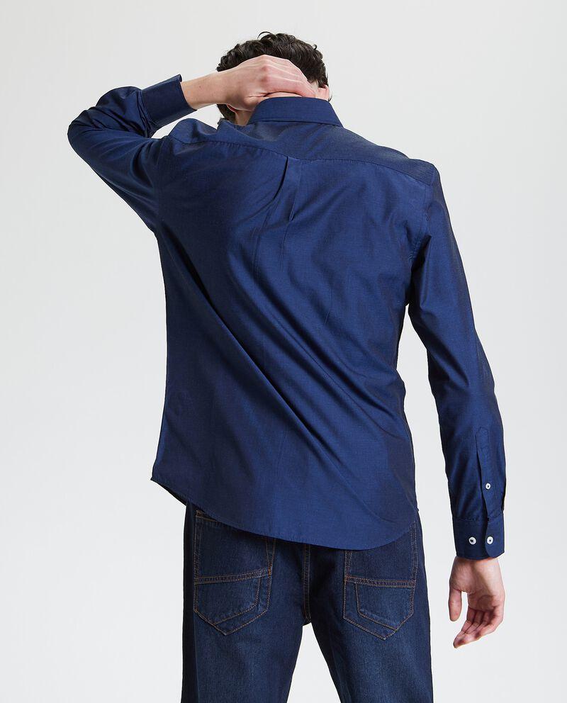 Camicia in tinta unita regular fit uomo