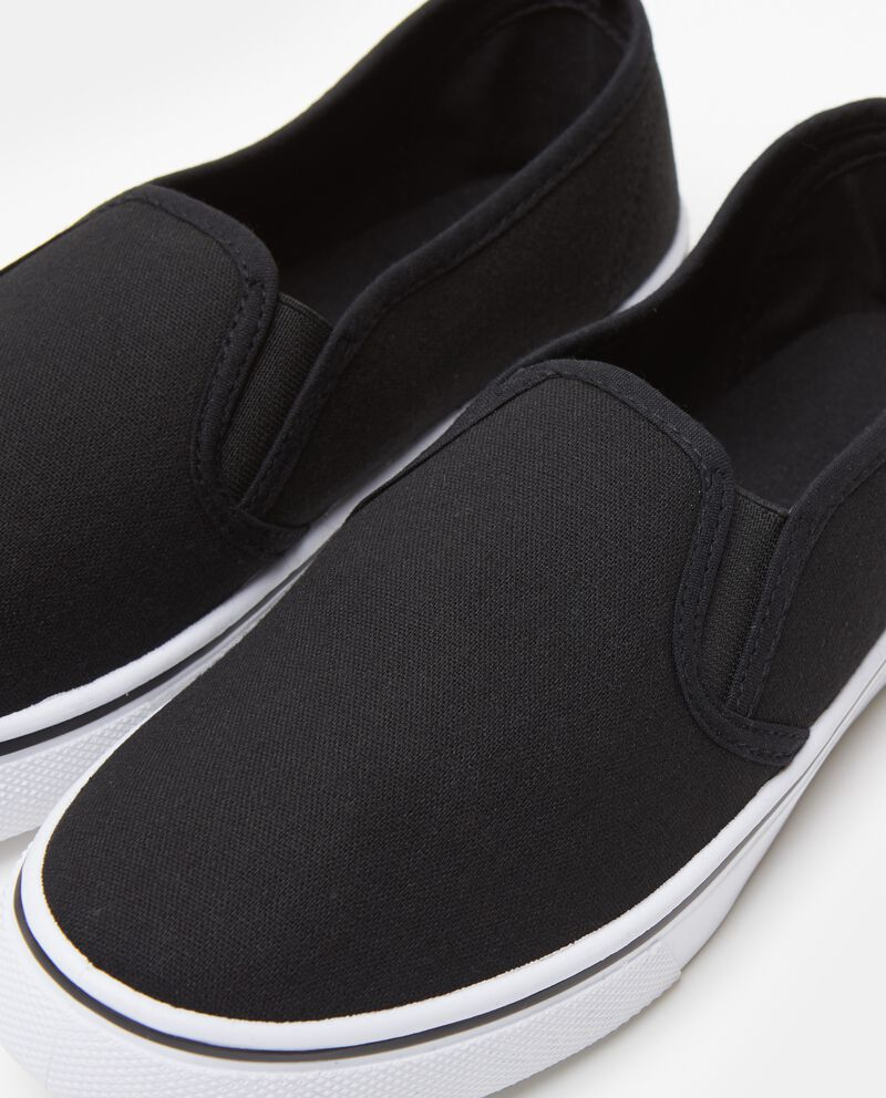Scarpe nere modello slip on uomo
