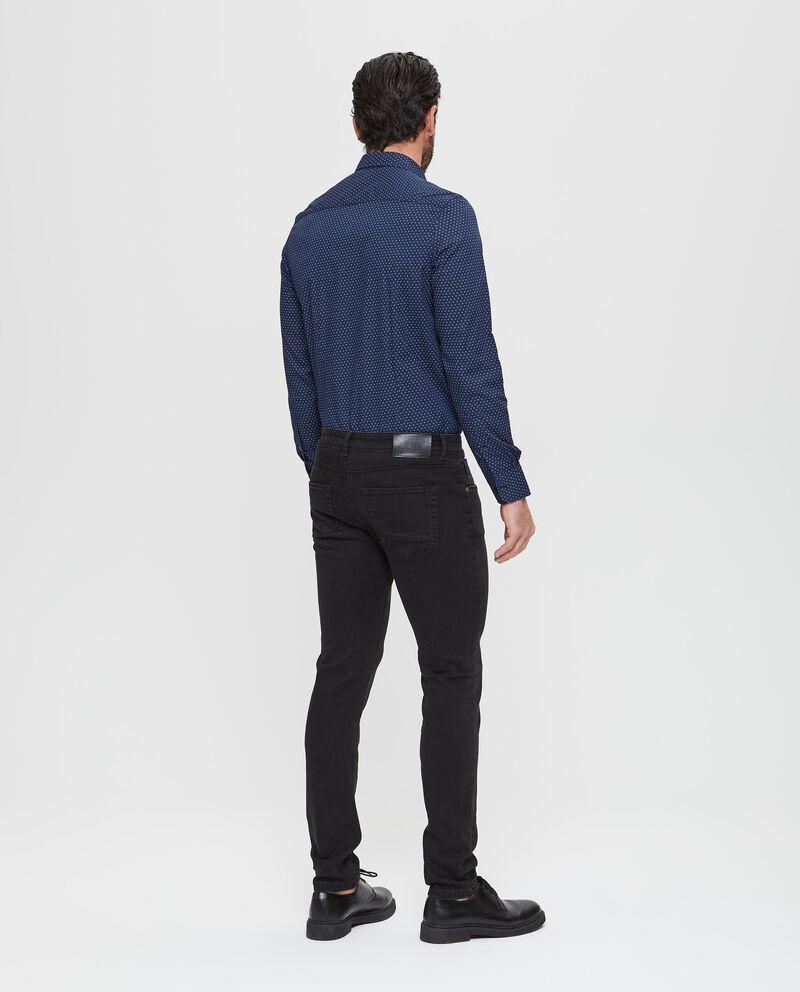Jeans skinny fit tinta unita