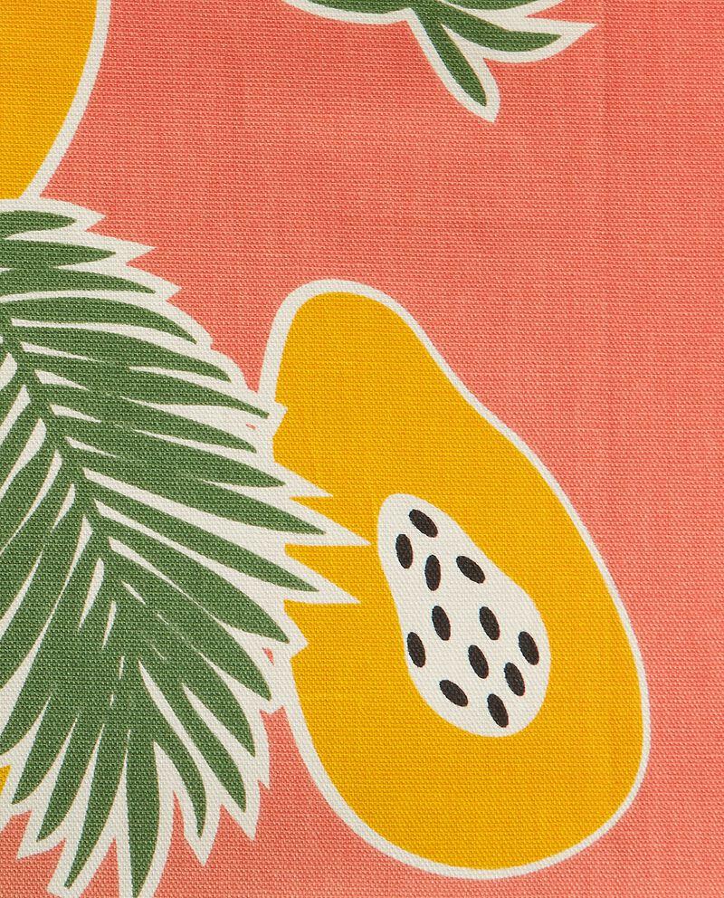 Tovaglia in puro cotone con stampa papaya