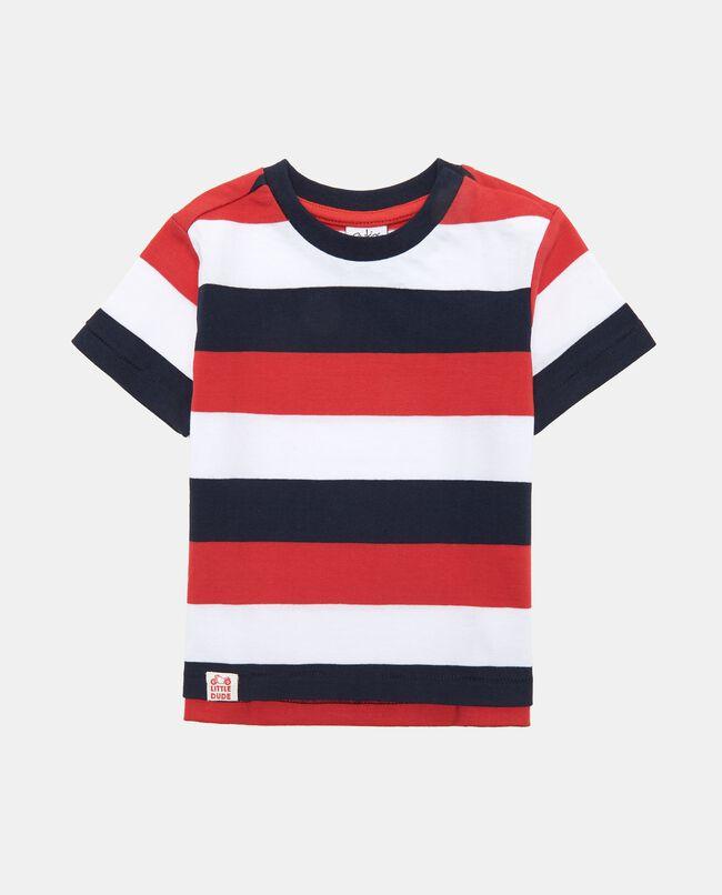 T-Shirt maniche corte righe rosse bianche e blu