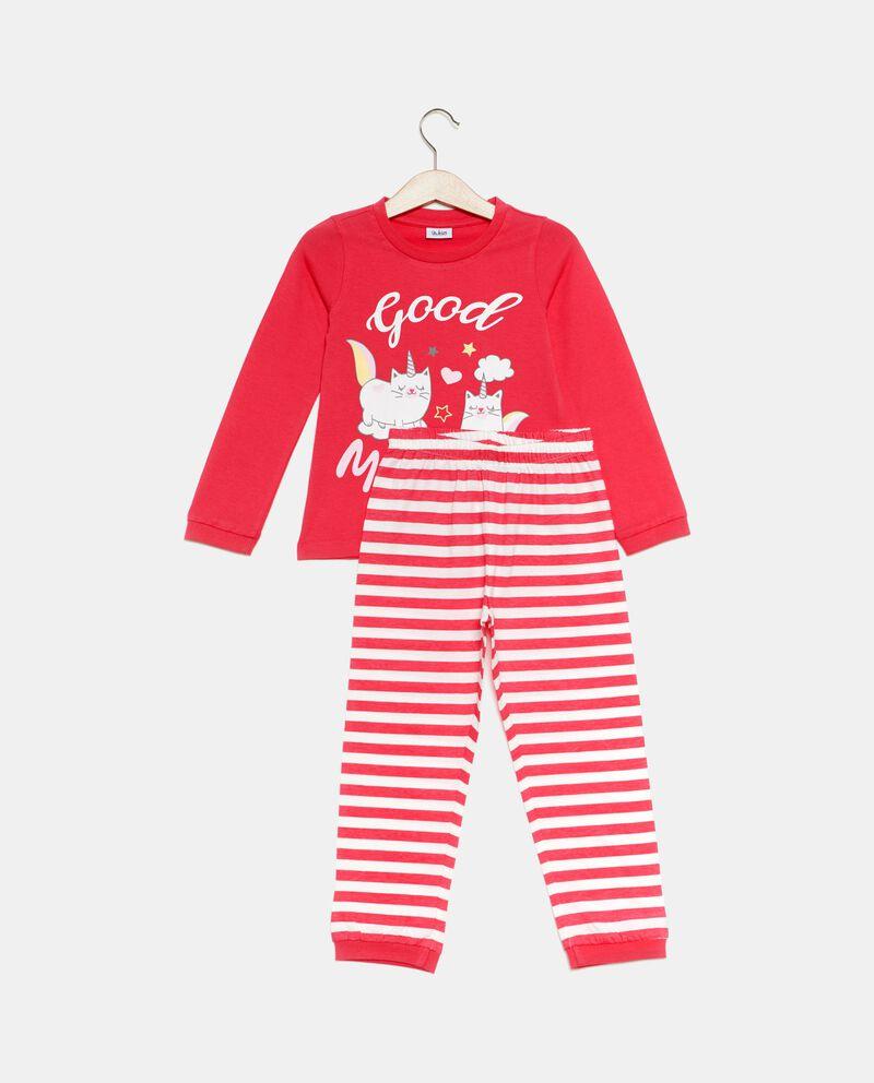 Set pigiama t-shirt e pantaloni righe bambina