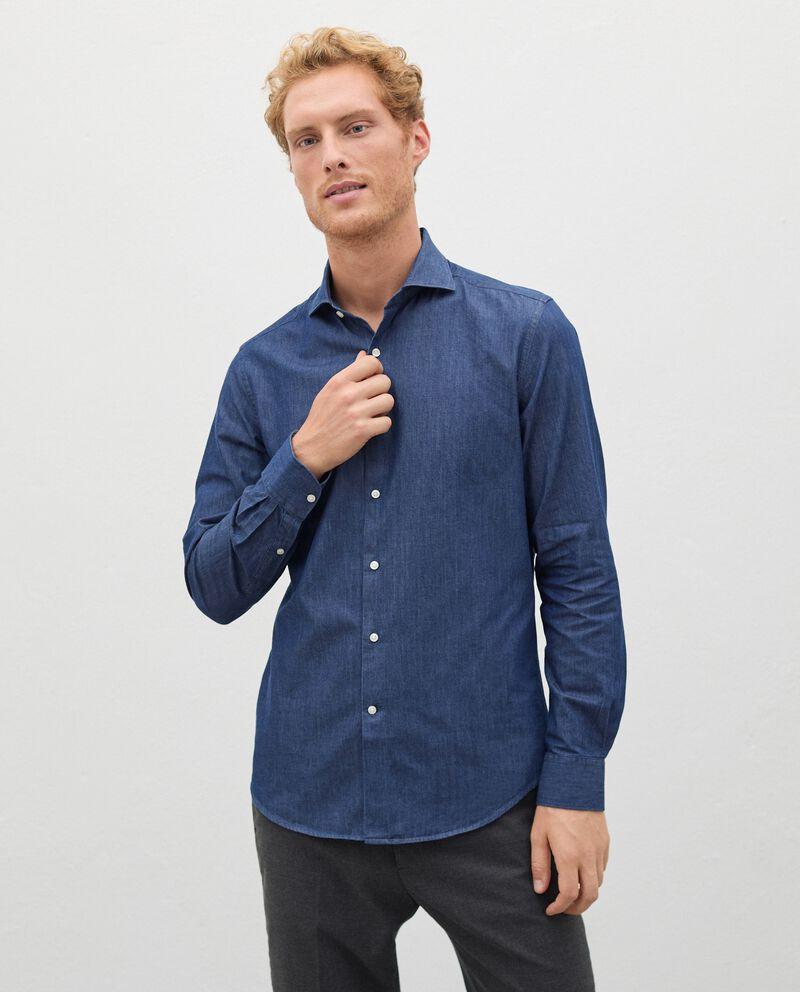 Camicia denim in puro cotone uomodouble bordered 0