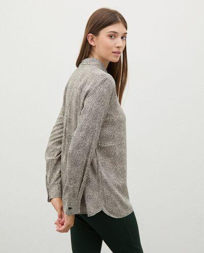 Camicia di pura viscosa con micro fantasia donna detail 1