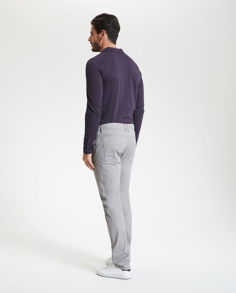 Pantaloni in puro cotone tinta unita uomo