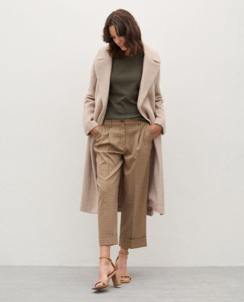 Cappotto in misto lana con cintura donna cover