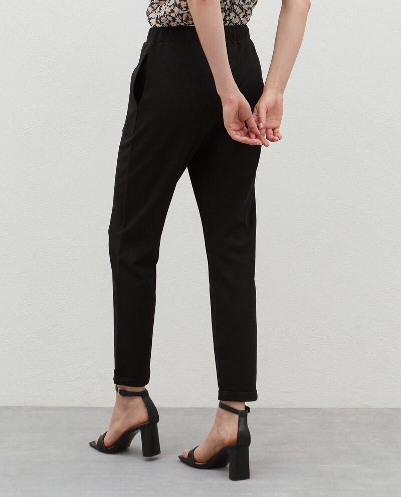 Pantaloni con coulisse crepe donna single tile 1