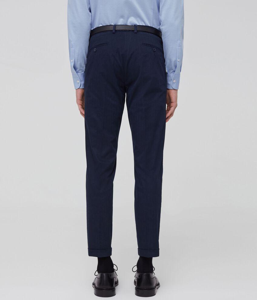 Pantaloni cotone stretch con pinces