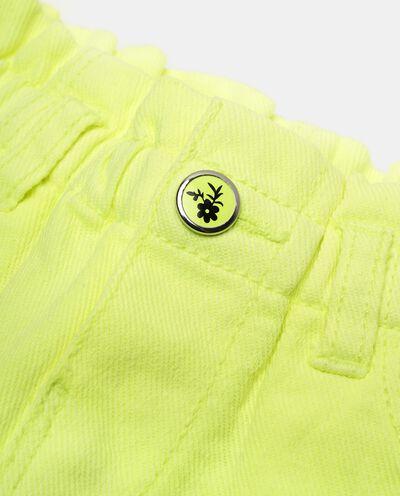 Shorts in lino misto cotone tinta unita neonata