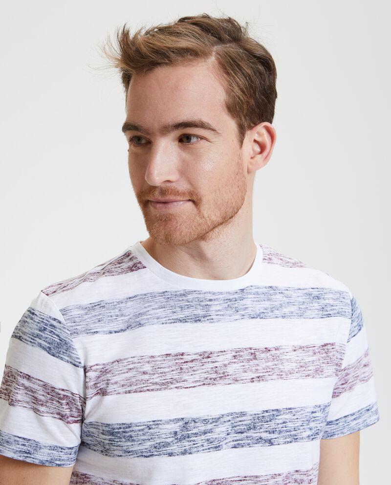 T-shirt puro cotone con motivo a righe uomo