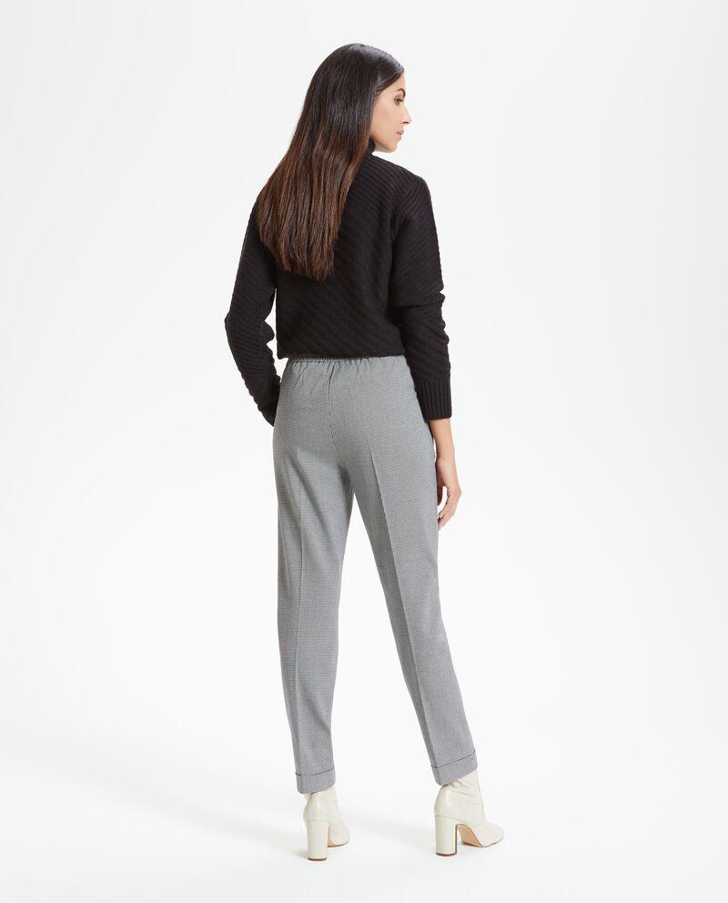 Pantalone fantasia a quadri donna