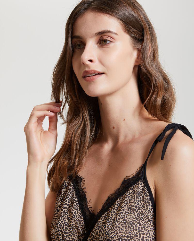 Camicia da notte animalier donna