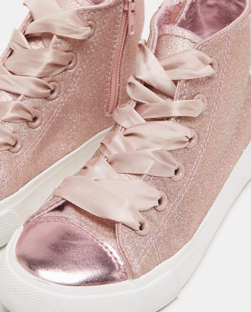 Sneakers rosa con glitter bambina
