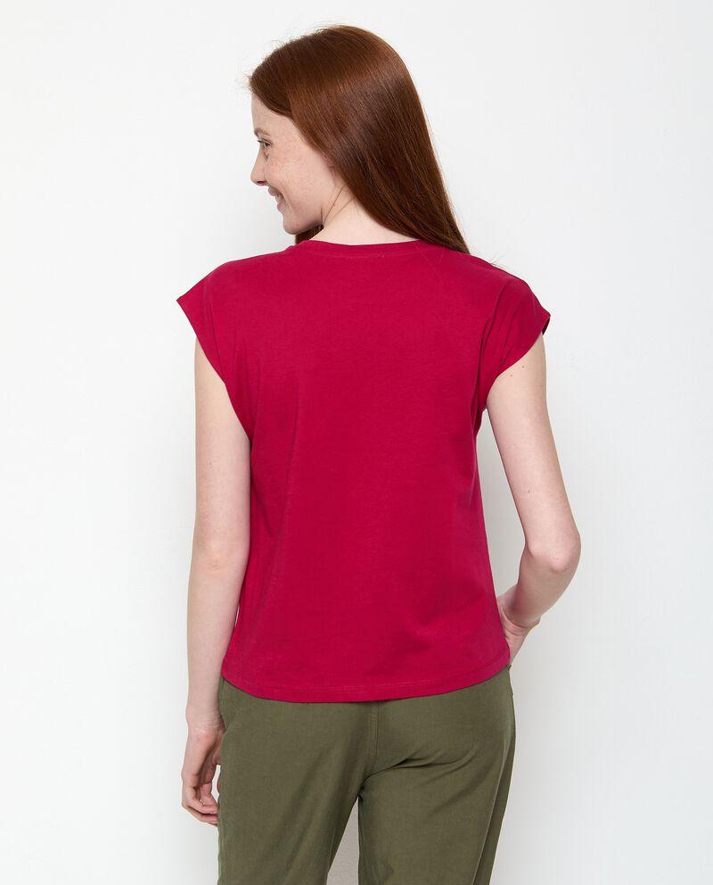 T-shirt con ricami di puro cotone donna single tile 1