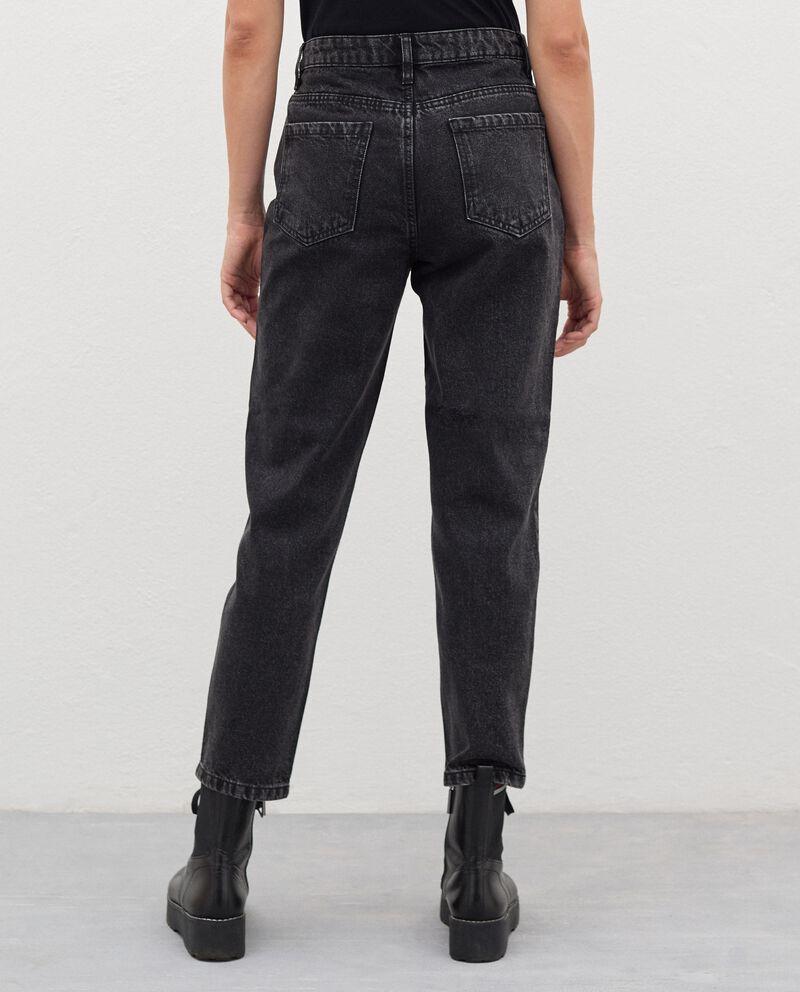 Jeans fit mom in puro cotone donna single tile 1