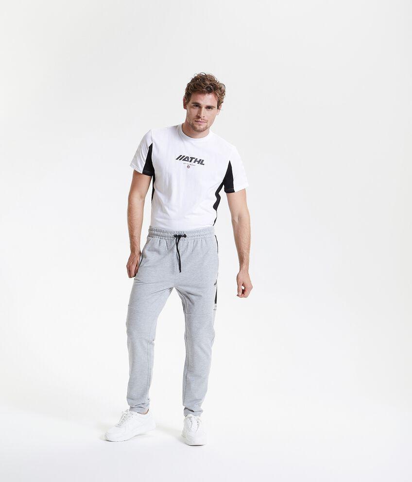 Pantaloni sportivi con banda uomo