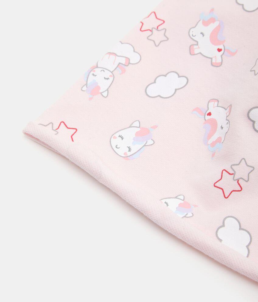 Cappellino in fantasia con unicorni neonata