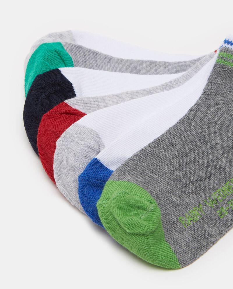 Set sette paia di calze bicolore