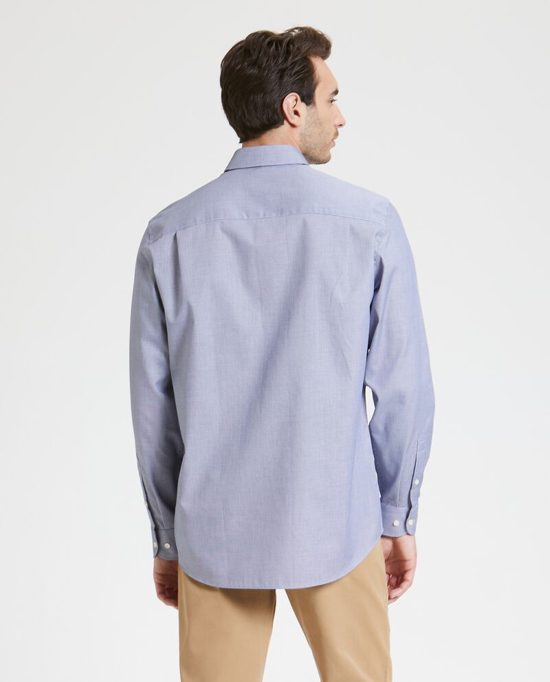 Camicia con micro quadretti in puro cotone uomo